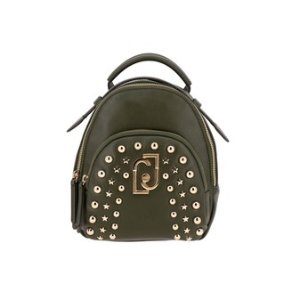 Liu Jo Backpack In Synthetic Leather With Logo And Studs