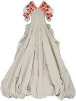 Zac Posen Embroidered Taffeta Gown
