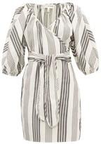Mara Hoffman Coletta Stripe-jacquard Tencel-blend Wrap Dress - Womens - Black Stripe