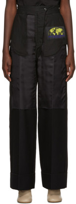 MM6 MAISON MARGIELA Black Inside-Out Dress Trousers