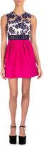 Mary Katrantzou Floral Tulle Contrast-Skirt Cocktail Dress
