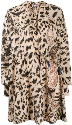 MSGM Tiger Print Mini Dress