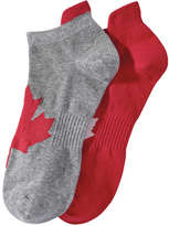 Joe Fresh Men's 2 Pack Canada Socks, Grey (Size 10-13)