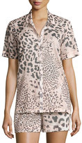 Natori Animal Print Short Pajama Set, Light Pink