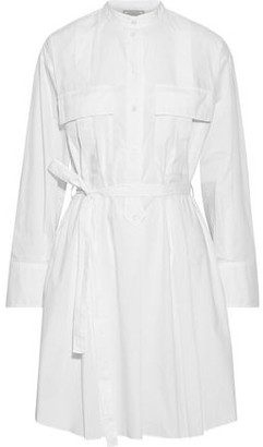 Nina Ricci Belted Cotton-poplin Mini Shirt Dress