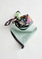 Thumbnail for your product : And other stories Patchwork Cotton Silk Blend Scarf