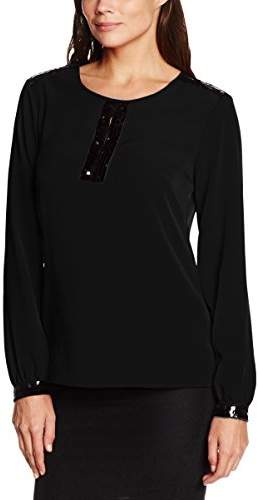 Gina Bacconi Women's Sequin Trim Crepe Long Sleeve Tops, ), )