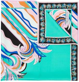 Emilio Pucci Guanabana Print Silk Square Scarf