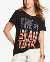 Denim & Supply Ralph Lauren Drapey Cotton Graphic T-Shirt