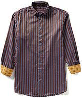 Visconti Big & Tall Twill Striped Long-Sleeve Woven Shirt