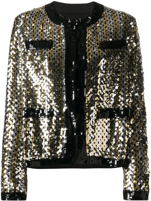MSGM Sequinned Long-Sleeved Jacket