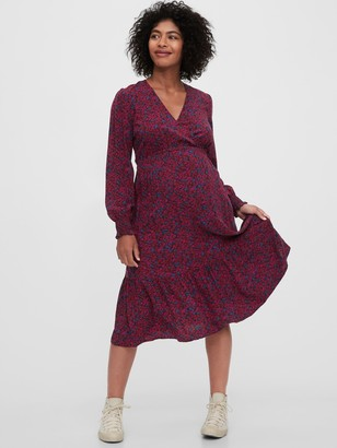 Gap Maternity Crossover Midi Dress