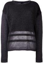 Ilaria Nistri stripe detailing sweater - women - Silk/Mohair/Virgin Wool/Polyamide - S