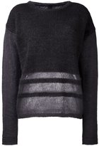 Ilaria Nistri stripe detailing sweater - women - Silk/Polyamide/Mohair/Virgin Wool - S