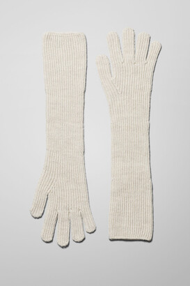 Weekday Long Gloves - Beige