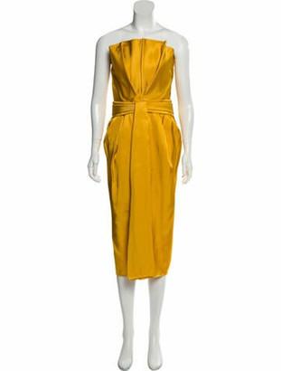 Brandon Maxwell Strapless Midi Dress w/ Tags