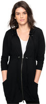 A Pea in the Pod Maternity Hooded Zip-Front Cardigan