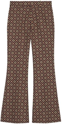 Gucci Fluid drill cropped flare pant