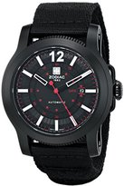 Zodiac ZMX Men's ZO9100 Jet-O-Matic Stainless Steel Automatic Watch with Black Canvas Band