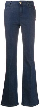 Twin-Set Side Stripe Flared Jeans