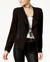 Lily Black Juniors' Illusion-Back Open-Front Blazer, Only at Macy's