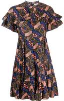 Ulla Johnson Abstract Print Tiered Style Dress