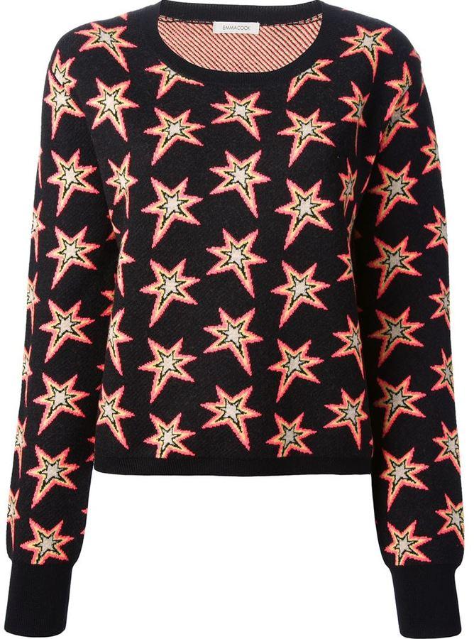Emma Cook star print sweater
