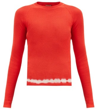 Altuzarra Kazuko Shibori-dye Hem Cotton Sweater - Orange