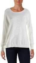 Vince Camuto Two by Womens Striped Crew Neck Pullover Sweater
