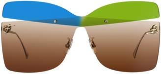 Fendi Eyewear Oversize Frame Sunglasses