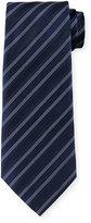 Armani Collezioni Multi-Striped Silk Tie, Light Blue