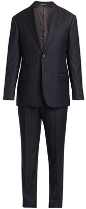 Emporio Armani Pinstripe Single-Breasted Wool Suit