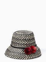 Kate Spade Basket weave flat top cloche