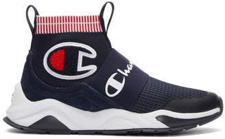 Champion Reverse Weave Navy Rally Pro High-Top Sneakers