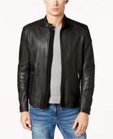 HUGO BOSS Men's Slim-Fit Leather Jacket