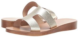 Massimo Matteo Cutout Slide (Platino) Women's Slide Shoes