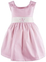 The Well Appointed House Girl's Pique Dress in Pink with White Sash-Can Be Personalized