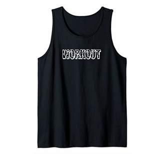WORKOUT - Gym Fitness Workout Motivational Design Tee F087 Tank Top