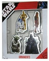 Star Wars HHK Trading LIMITED EDITION Set of 4 Christmas Ornaments