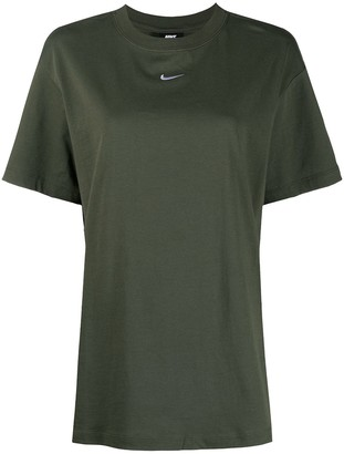 Nike Logo-Embroidered Cotton T-Shirt