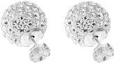 Accessorize Sterling Silver Sparkle Front & Back Stud Earrings
