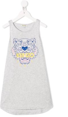 Kenzo Tiger print jersey dress