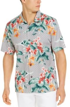 Tommy Bahama Men's Spadacini on Geometric Dot Camp Shirt, Created for Macy's