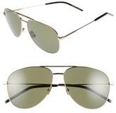 Saint Laurent Women's 'Classic' 59Mm Aviator Sunglasses - Endura Gold