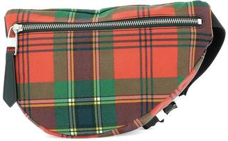 Alexander McQueen Checked Belt Bag