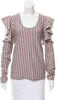 Opening Ceremony Striped Cutout Top w/ Tags