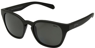 Zeal Optics Windsor (Matte Black/Polarized Dark Grey Lens) Athletic Performance Sport Sunglasses