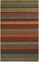 Liora Manné Inca Stripes Indoor Wool Pile Rug - Green - 4ft. x 6ft.