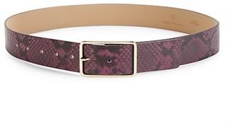 B-Low the Belt Milla Python-Embossed Leather Belt