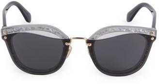 Miu Miu 65MM Cutout Rectangular Sunglasses